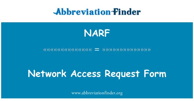 NARF: Ağ erişim talep formu