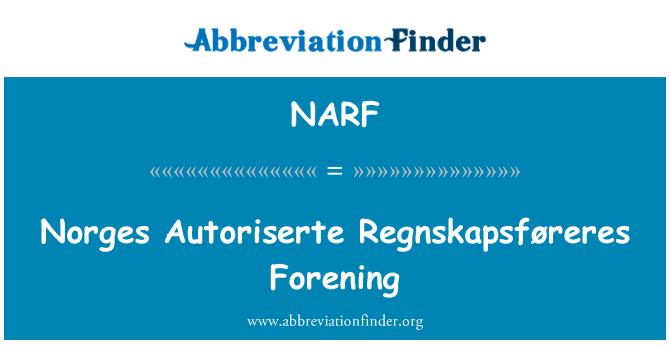 NARF: Norges Autoriserte Regnskapsføreres Forening