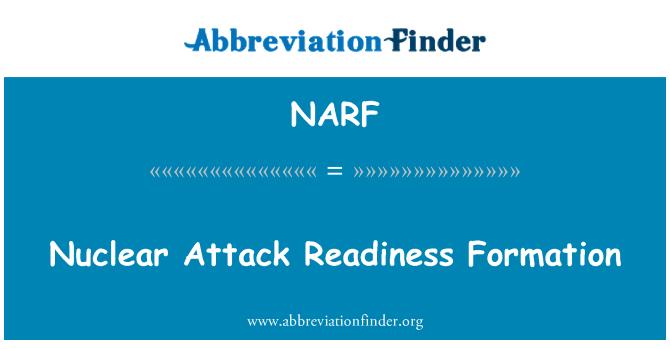 NARF: Nükleer saldırı hazırlığı düzeni