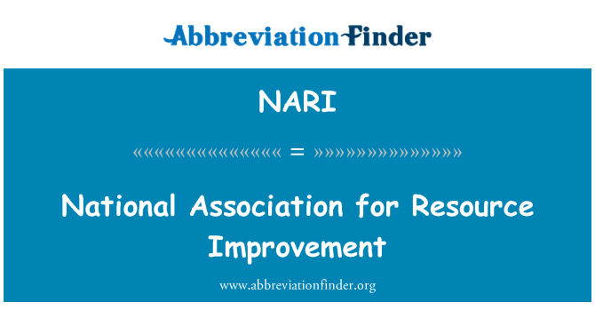 NARI: National Association for ressursi parandamine
