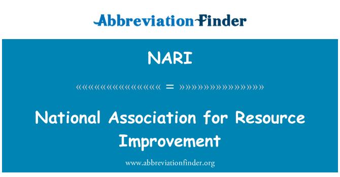 NARI: Kaynak geliştirilmesi için ulusal Association