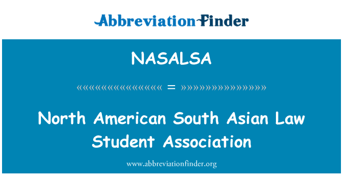 NASALSA: North American South Asian Law Student Association