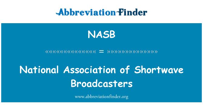 NASB: Shortwave yayıncılar Ulusal Birliği