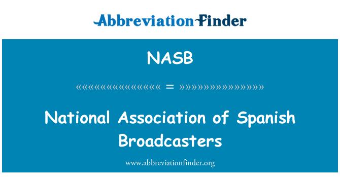 NASB: İspanyol yayıncılar Ulusal Birliği