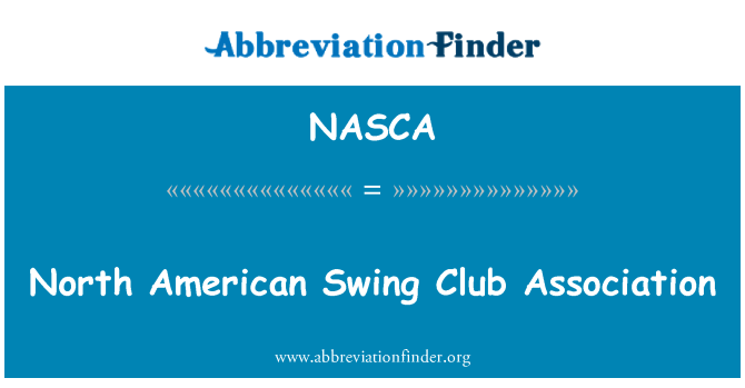 NASCA: North American Swing Club Association