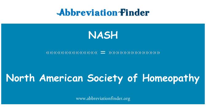 NASH: North American Society of Homeopathy