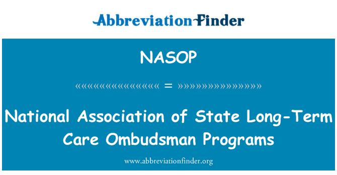 NASOP: National Association of State Long-Term Care Ombudsman Programs