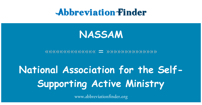 NASSAM: National Association for the Self-Supporting Active Ministry