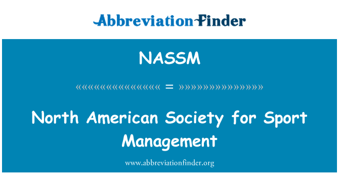NASSM: North American Society for Sport Management