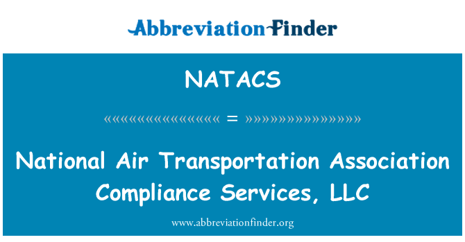 NATACS: National Air Transportation Association Compliance Services, LLC