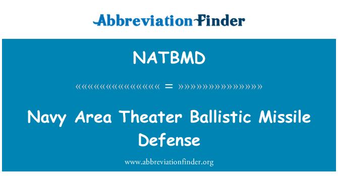 NATBMD: Navy Area Theater Ballistic Missile Defense