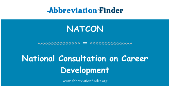 NATCON: National Consultation on Career Development