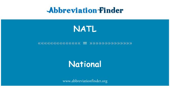 NATL: National