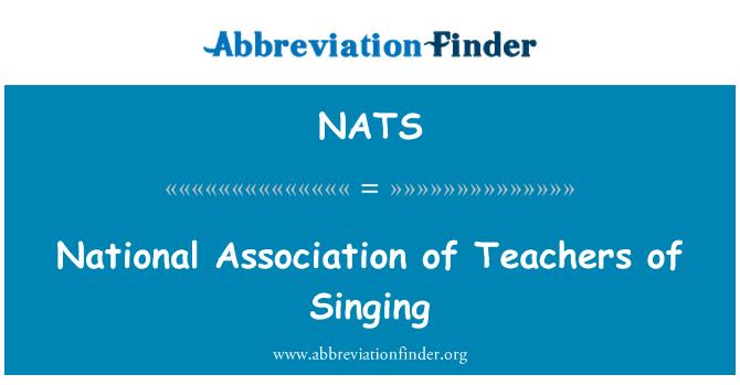 NATS: Asociación Nacional de profesores de canto