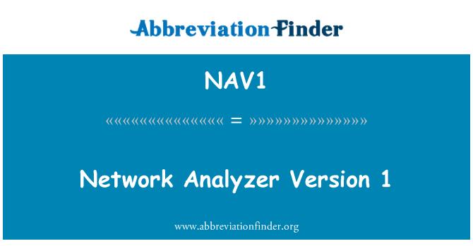 NAV1: Network Analyzer Version 1
