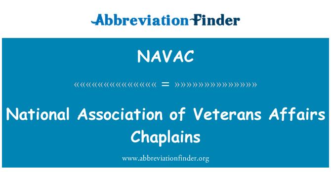 NAVAC: National Association of Veterans Affairs Chaplains