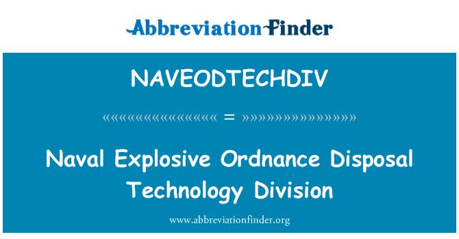 NAVEODTECHDIV: Naval Explosive Ordnance Disposal Technology Division