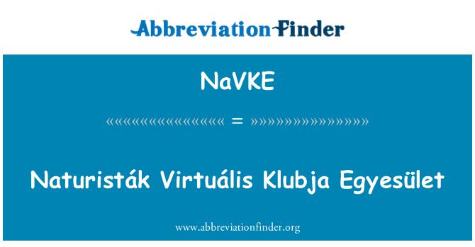 NaVKE: Naturisták Virtuális Klubja Egyesület
