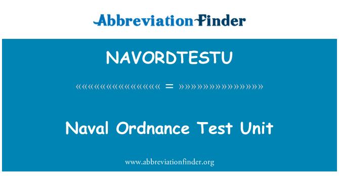 NAVORDTESTU: Naval Ordnance Test Unit