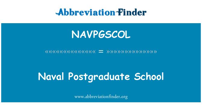 NAVPGSCOL: Námořní akademie pro postgraduální studium