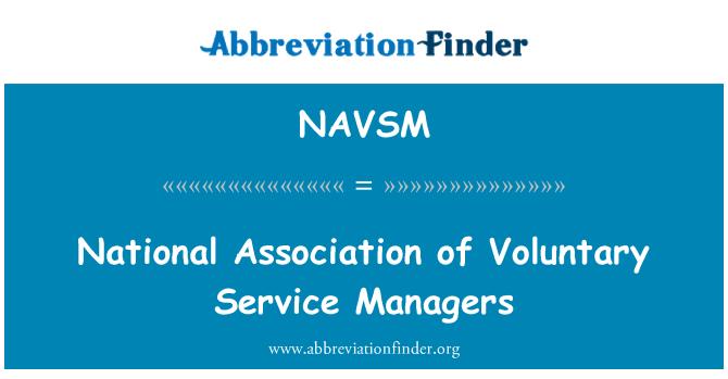 NAVSM: Nacionalna udruga dobrovoljnih usluga upravitelja