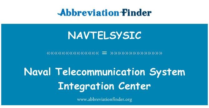 NAVTELSYSIC: 海军通信系统集成中心