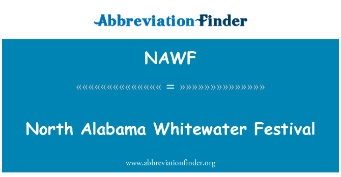 NAWF: North Alabama Whitewater Festival