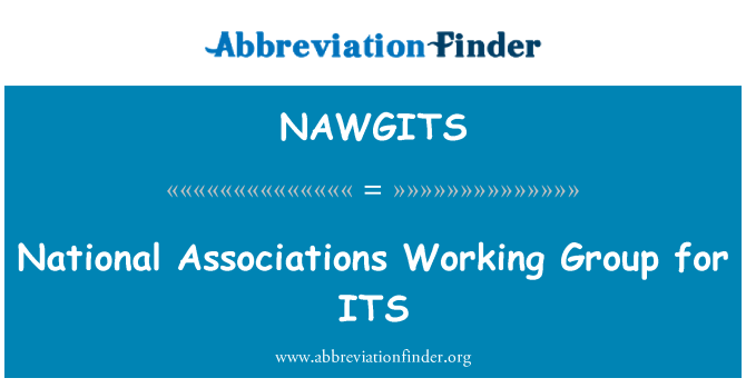 NAWGITS: National Associations Working Group for ITS