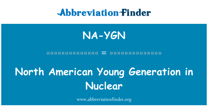 NA-YGN: North American Young Generation in Nuclear