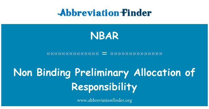 NBAR: Mittesiduvate esialgse vastutuse jaotamine