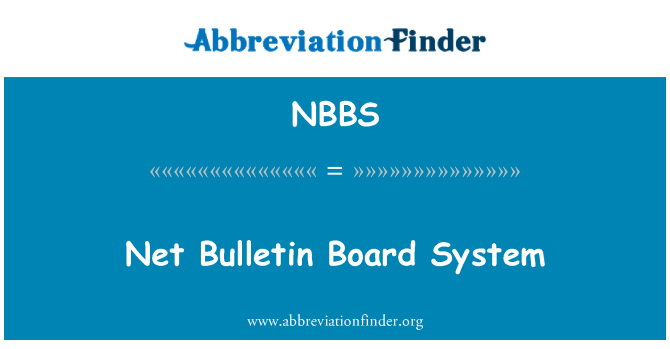 NBBS: Red Bulletin Board System