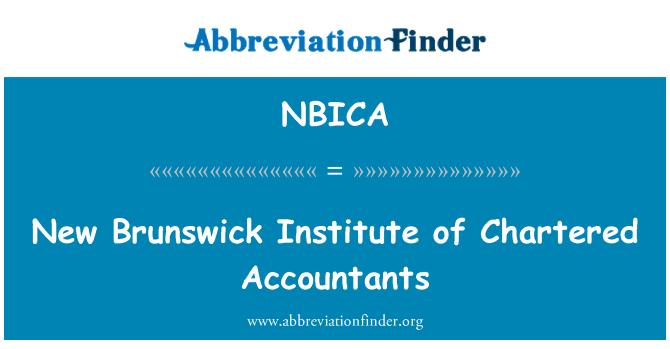 NBICA: New Brunswick Institute of Chartered Accountants