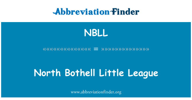 NBLL: North Bothell Little League