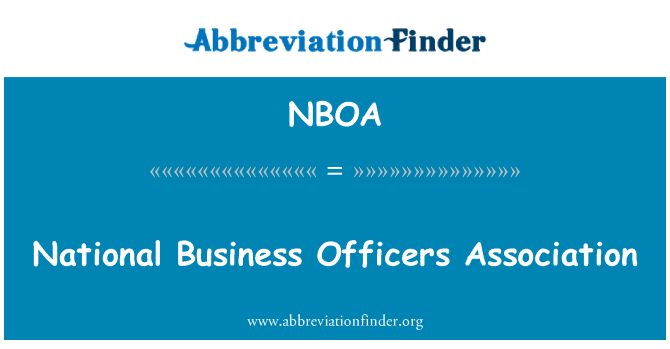 NBOA: National Business Officers Association