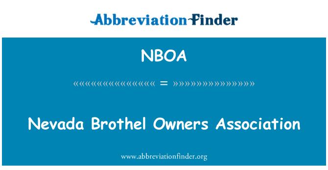 NBOA: Nevada Brothel Owners Association