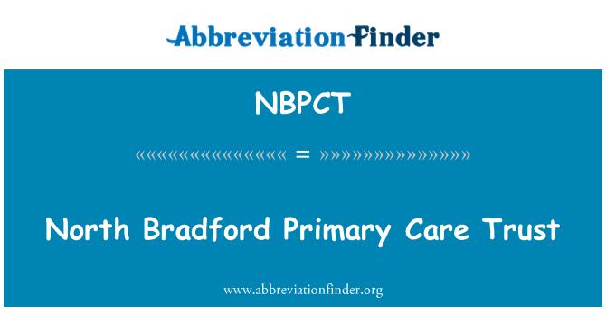 NBPCT: North Bradford Primary Care Trust
