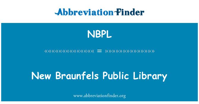 NBPL: New Braunfels Public Library