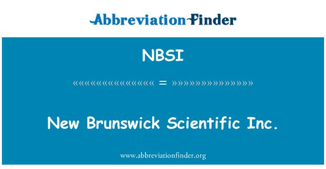 NBSI: New Brunswick vitenskapelige Inc.