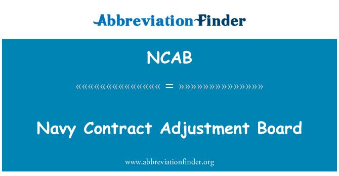 NCAB: Marina contrato ajuste tablero