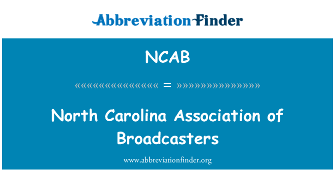 NCAB: North Carolina Derneği yayın