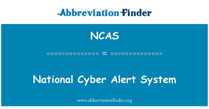 NCAS: Sistema de alerta nacional Cyber