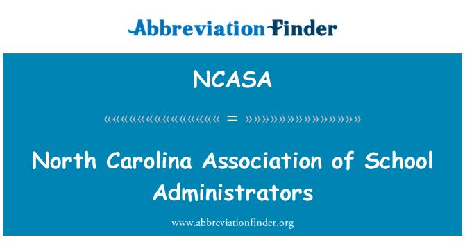 NCASA: North Carolina Association of School Administrators