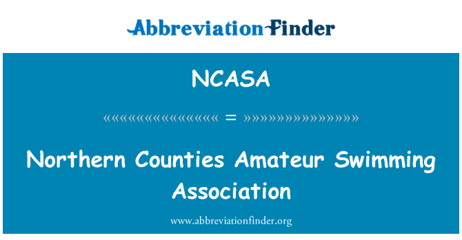 NCASA: Northern Counties Amateur Swimming Association