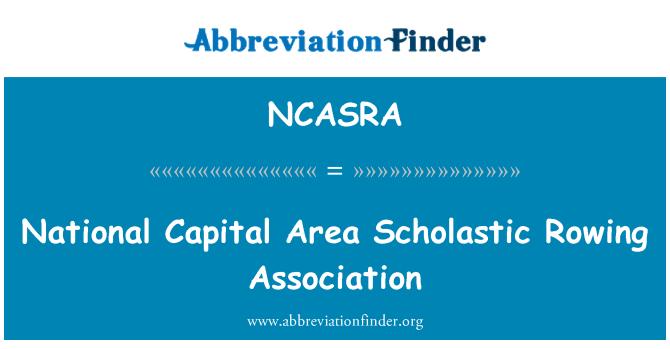 NCASRA: National Capital Area Scholastic Rowing Association