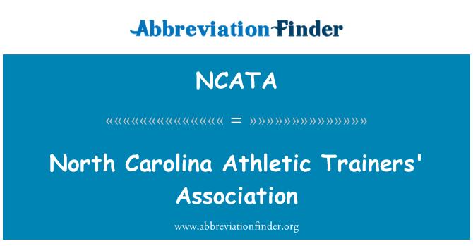 NCATA: North Carolina Athletic Trainers' Association