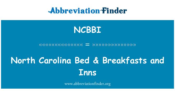 NCBBI: North Carolina Bed & Breakfasts and Inns