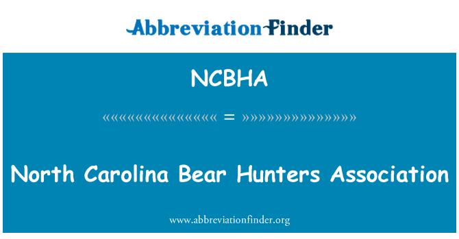 NCBHA: North Carolina Bear Hunters Association