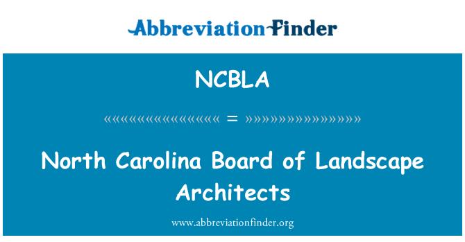 NCBLA: North Carolina Board of Landscape Architects