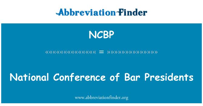 NCBP: Riiklik konverents Baar presidendid