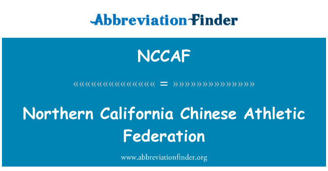 NCCAF: Northern California Chinese Athletic Federation